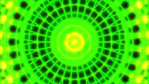 Ornate Green Light Burst Disco Neon VJ Abstract Motion... Stock Video Footage