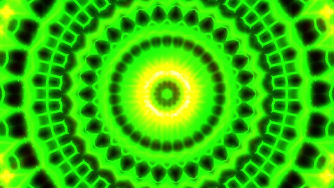 Ornate Green Light Burst Disco Neon VJ Abstract Motion Background Loop Close 3 Animation
