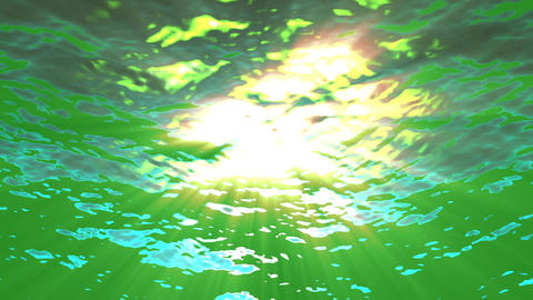Green Underwater Water Surface Waves Motion Background Loop 2 Animation