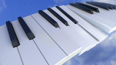 Piano Key Chase Animation