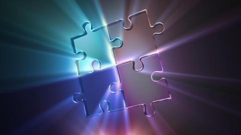Puzzle Pieces Converge Animation