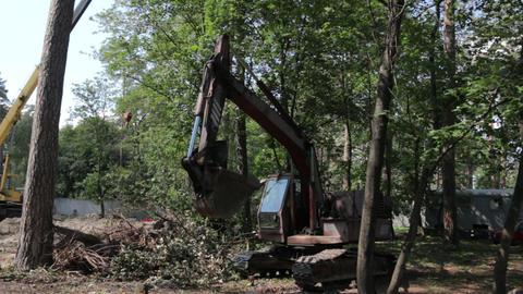 Excavator with Bucket Footage