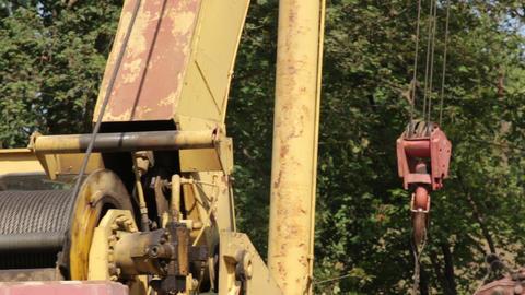 Work Construction Crane Live Action