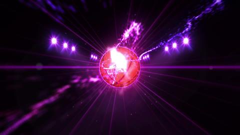 Basketball, Illuminated bright color spotlights, In night scene Animation