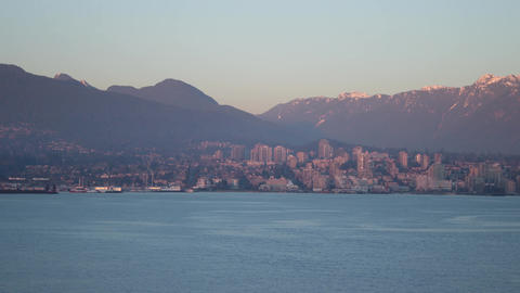 North Vancouver Sunset Timelapse Footage