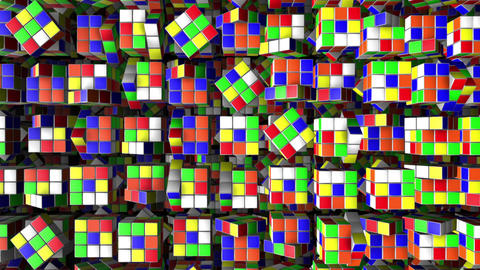 Rubik's Cube Animation Background Loop Animación