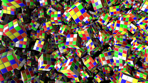 Rubik's Cube Animation Background Loop Animation