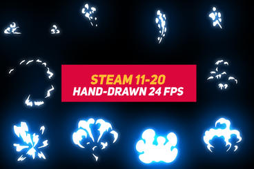Liquid Elements Steam 11-20 After Effects Template