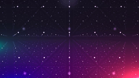 Violet Cyberspace with Lines of Dots CG動画