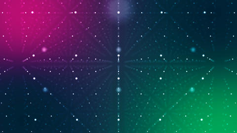 Multicolored Cyberspace with Lines of Dots Animation