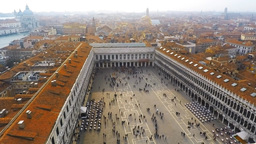 Time Lapse Of Saint Mark's Square In Venice, Italy stock footage