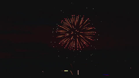Fireworks flashing in the night Footage