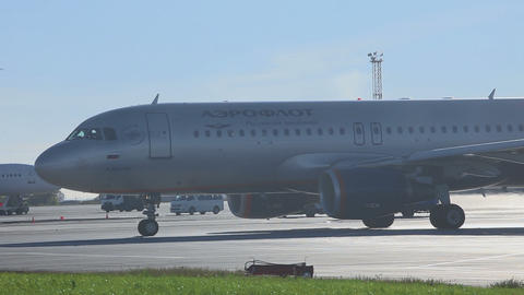 Airbus 320 taxing before take off Footage