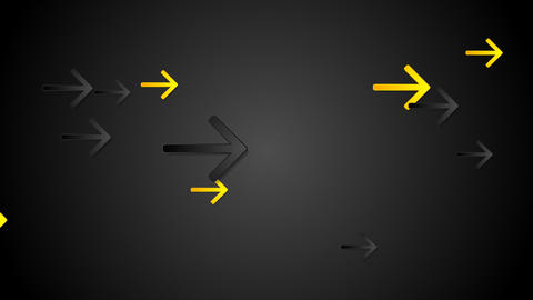Yellow and black arrows tech video animation Animation