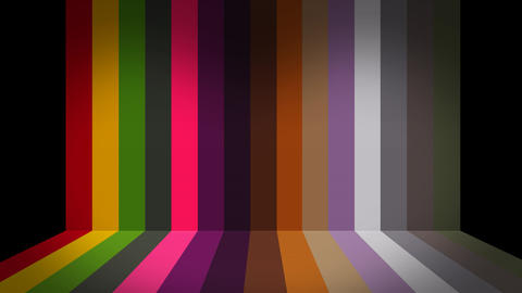 Bright rainbow colorful abstract stripes background of color lines After Effects Template