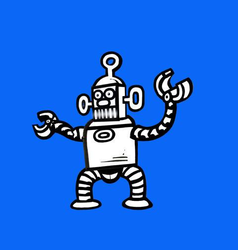 Dancing Robot Stock Video Footage