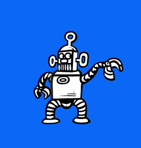 Dancing Robot Animation