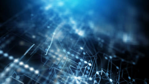 Blue abstract futuristic technology background Animation