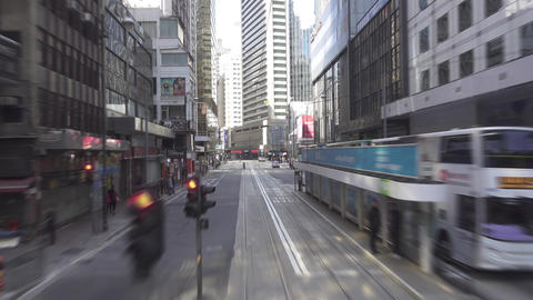 Hong Kong from double-decker tram, timelapse Footage