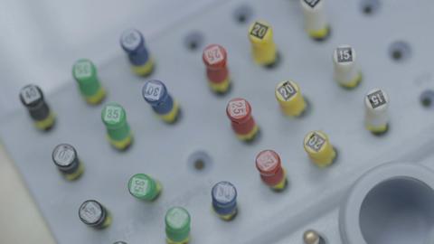 Dental tools and equipment, closeup Footage