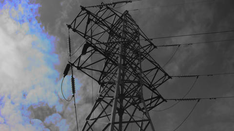 Transmission tower for a Vj_black&white Live Action