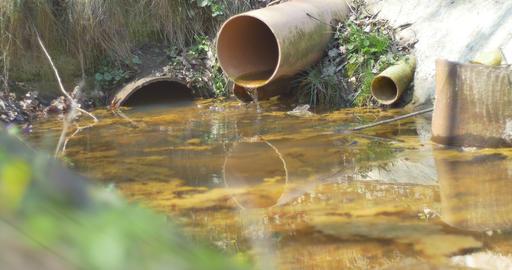 Drainage Water Drip Footage