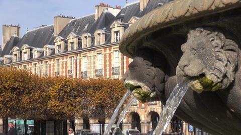 Paris, Places des Vosges, France Footage