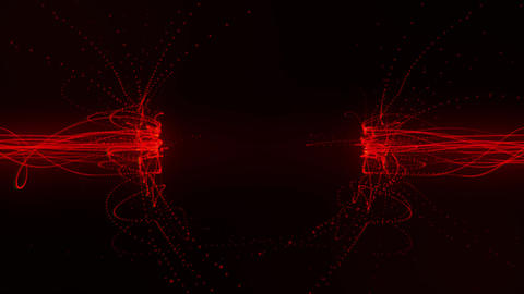 Red Flowing Lines in a Magnetic Field Loopable Motion Background Animation