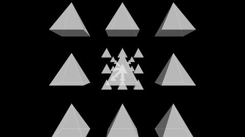 Tunnel Motion Effects with White Pyramids Animation