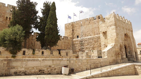 Ancient fortress in Jerusalem Footage