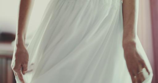 Wedding dress detail Footage