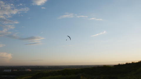 Silhouette of paraglider Footage