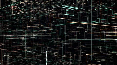 Futuristic tech animation Stock Video Footage
