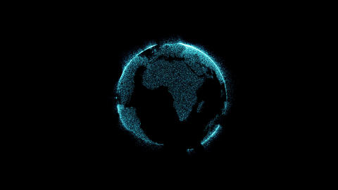 sphere with turbulent motion particles Animation