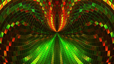 Shiny Colorful 3d Vj Stage Loop 4k Background Abstract Glow Lights Animación