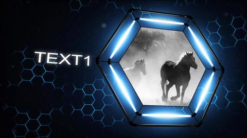 Hexagon Opener After Effectsテンプレート