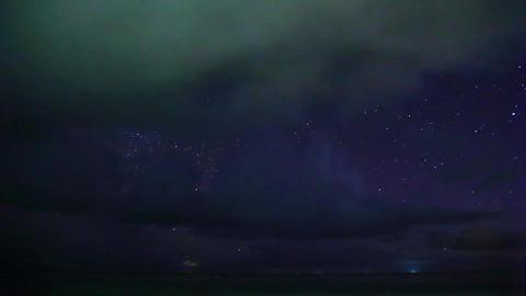 タイムラプス 星空と海 ビデオ