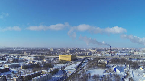 St. Petersburg winter, time lapse Footage