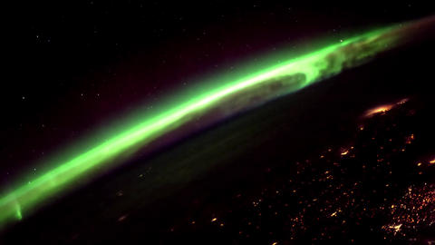 2 videos in1. Planet Earth seen from the ISS. Earth and Aurora Borealis from ISS Footage