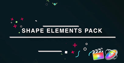 Shape Elements Pack Apple Motionテンプレート