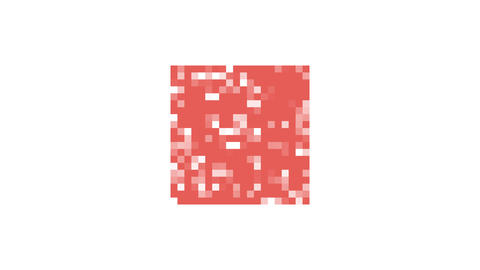 red mosaic square Animation