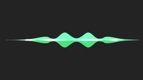 colorful waveform, imagination of voice record CG動画