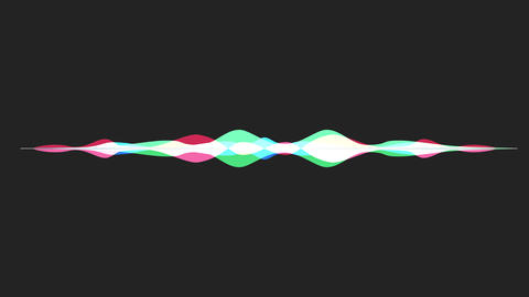 colorful waveform, imagination of voice record Stock Video Footage