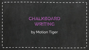 Chalkboard Writing Template - チャクラ筆記用具 Plantilla de After Effects
