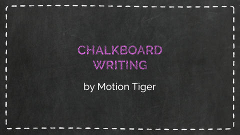 Chalkboard Writing Template After Effects Template