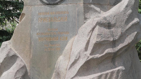 Monument at the grave of Przhevalsky Footage
