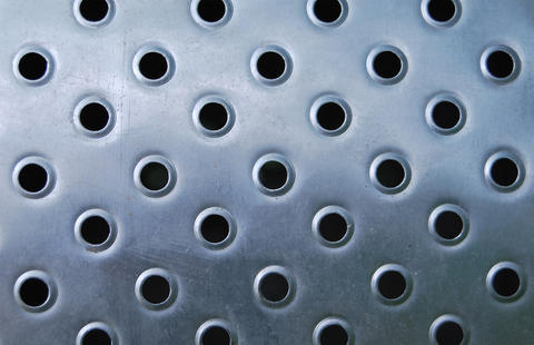 Stainless steel plate with perforation Photo
