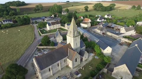 Meuvaines, Normandy, France. Saint-Manvieu Church Live Action