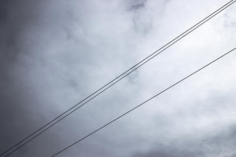 Wires against the heavy sky Photo