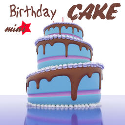 Birthday Cake Cartoon Modelo 3D